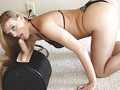 Darryl Hanah loves the sybian in her juicy holes