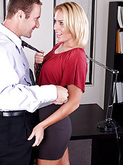 Sex at Office, Jamey Janes gets fucked hard in the office!
