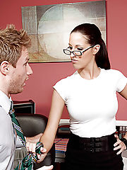 Office Sex, Kortney Kane enjoys her lunch break at work by having her co-worker lick her pussy.
