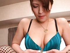 Kokomi Sakura removes silk panties and exposes her pussy