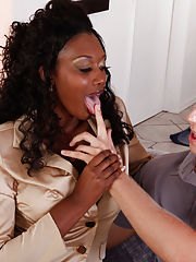 Secretary Sex, Nyomi Banxxx gets her sweet black pussy pounded