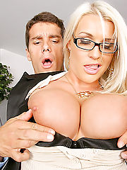 Office Hardcore, Amazing big tits blonde sadie decides to fire the employee who fucks her worst in these hot office desk banging update